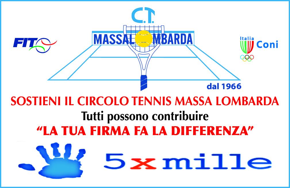 Sostieni il Circolo Tennis Massa Lombarda con il 5xMille
